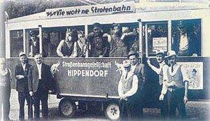 """KG Hippendorf 1950: """"Vie wött ne Strotenbahn""""."""
