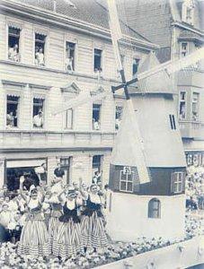 Mit einer Holland-Windmühle schafften die Börkeyer 1963 den ersten von bisher 2 Pokalsiegen