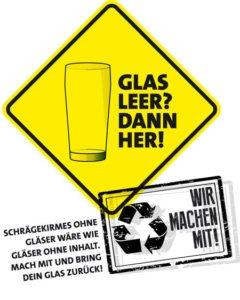 Glas leer? Dann her! | www.schraegekirmes.de